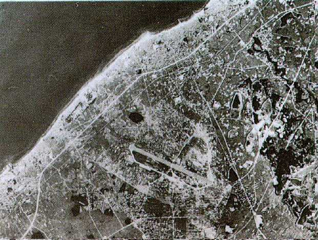 明野陸軍飛行学校佐野分教所のある泉佐野航空写真